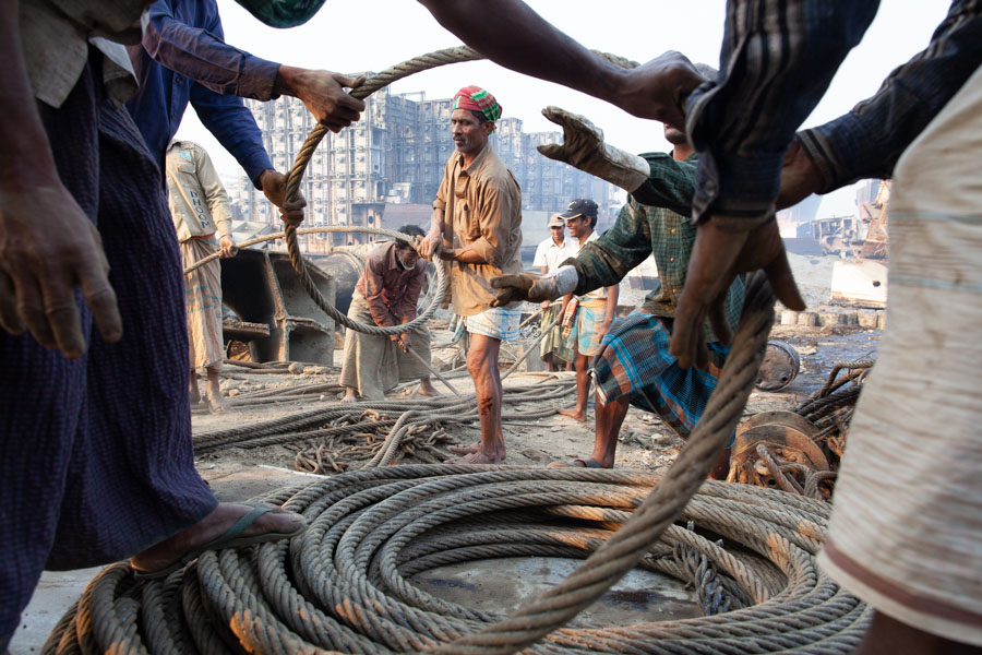 shipbreaking cable in Bangladesh